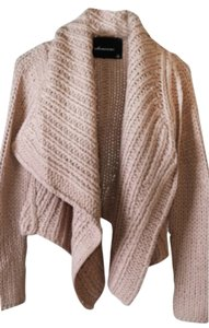 Olivaceous Knit Sweater Boho Soft Nude Blazer