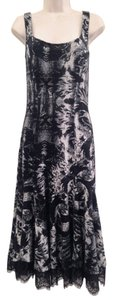 Diane von Furstenberg Dvf Lace Bodycon Scoop Back Midi Dress