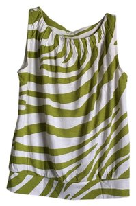 Ann Taylor LOFT Top Green/White
