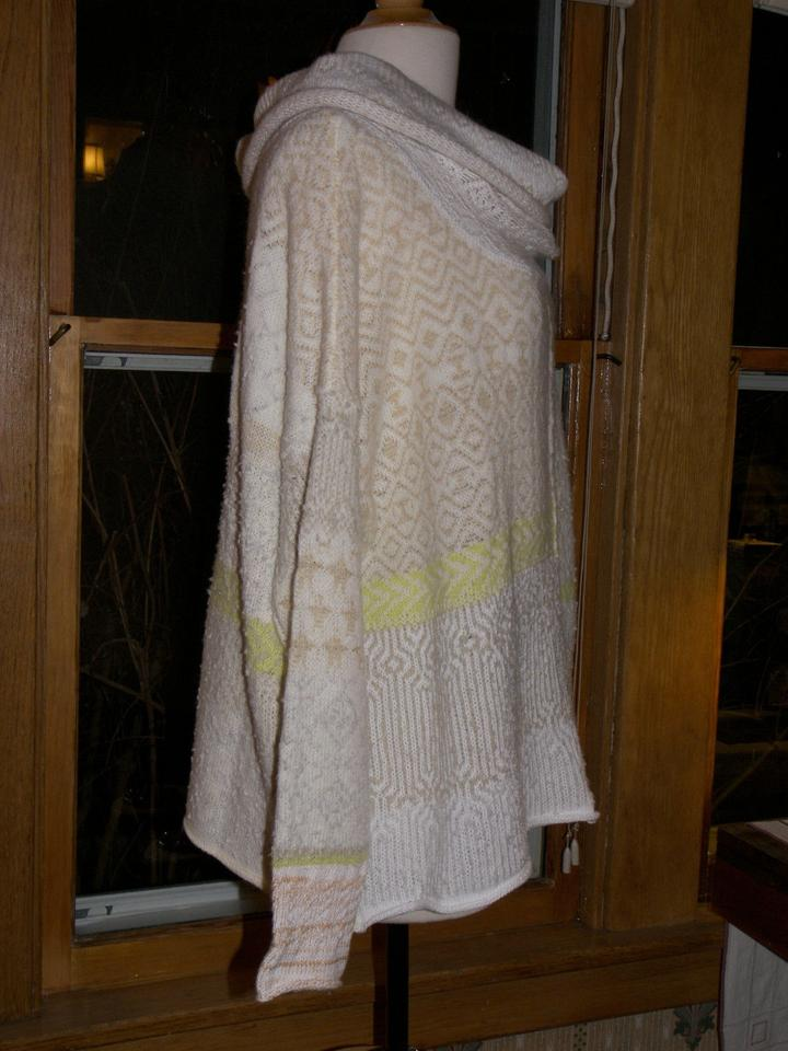 32cff13564 Free People Favorite Cowl Ivory Medium Awesome Comfort Style Multicolor  Sweater