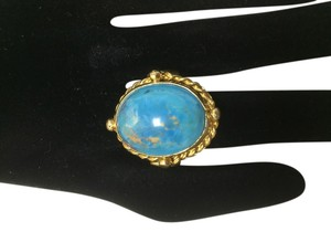 Turquoise Ring *Handmade* Vermeil