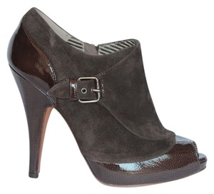 Moschino Brown Patent and Suede Boots