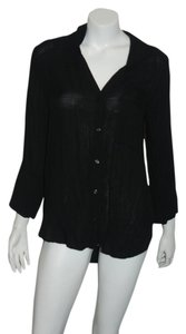 Cloth & Stone Women Split Button Down Shirt Black
