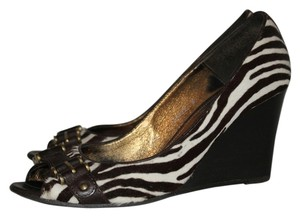 J.Crew Brown Zebra in Calf Hair Wedges