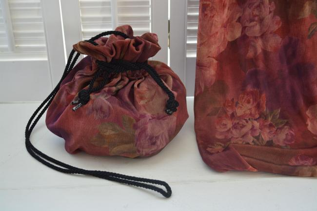 multi color Maxi Dress by Gail Garner for All That Glitters San Francisco With Matching Purse Image 3