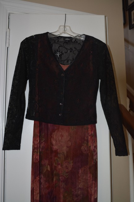 multi color Maxi Dress by Gail Garner for All That Glitters San Francisco With Matching Purse Image 6