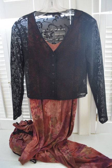 multi color Maxi Dress by Gail Garner for All That Glitters San Francisco With Matching Purse Image 7