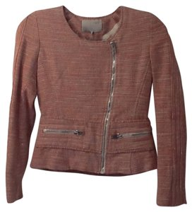 IRO Red, Cream, Silver Tweed Jacket