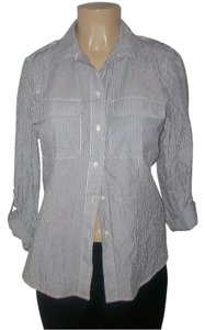 Michael Kors Button Down Shirt Blue/White