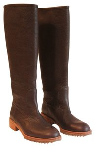 Pedro Garcia Riding Boot Brown Pebbled Leather Boots