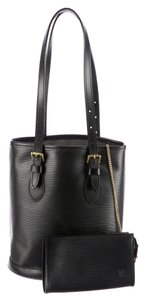 Louis Vuitton Bucket Tote in Black