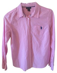 U.S. Polo Assn. Button Down Us Assn Button Down Shirt White/Pink Striped