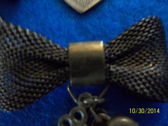 Other Earring/ Pin Set, Bow w/ Hearts and Key