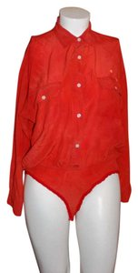 DKNY Button Down Shirt Red