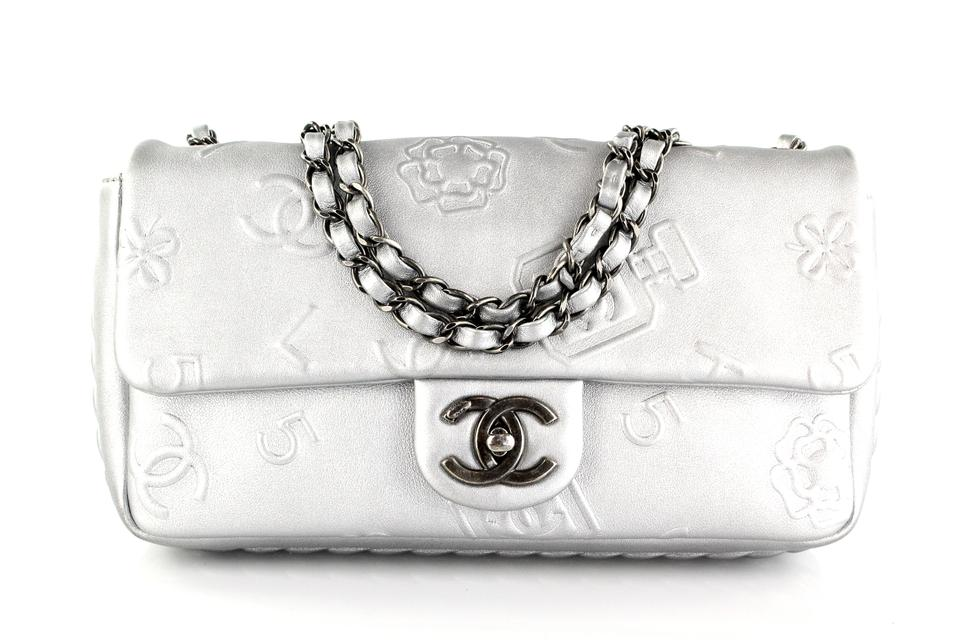 cca9c77ffd2e01 Chanel Classic Flap Lucky Charm Silver Leather Shoulder Bag - Tradesy
