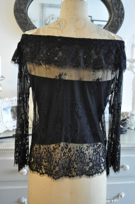 Lia Kes Lace Rocker Top Black