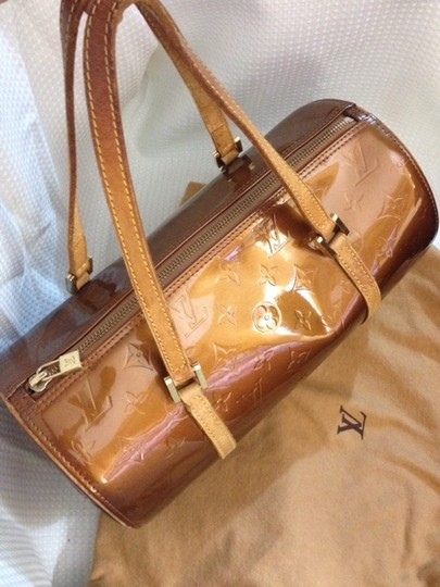 Louis Vuitton Bedford Vernis Papillion Satchel Pochette Shoulder Bag