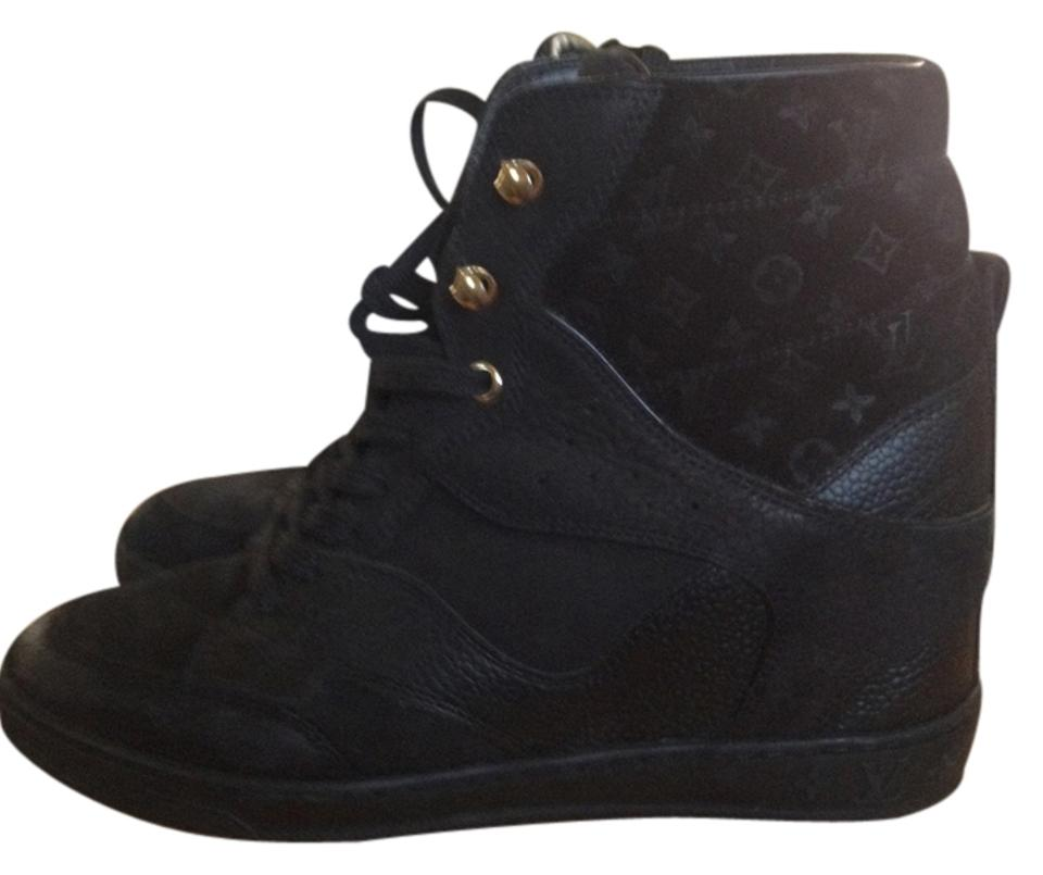 2ac22e4bd759 Louis Vuitton Black Cliff Top Wedge Sneakers 38 Sneakers Size US 5.5 ...