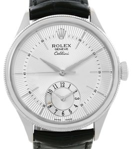 Rolex Rolex Cellini Dual Time 18K White Gold Automatic Mens Watch 50529