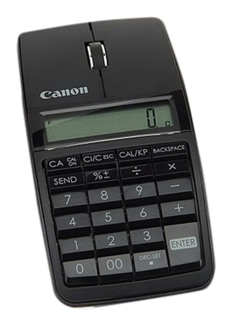 Item - Black Bluetooth Slim Mouse and Calculator with Numeric Keypad and Carry Case Tech Accessory