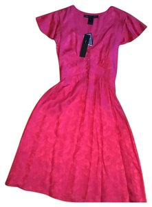 Marc by Marc Jacobs short dress Hot Fuchsia Silk Brocade Lightweight on Tradesy