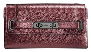 Coach Coach 53028 SWAGGER WALLET in PEBBLED LEATHER F53028 nwt