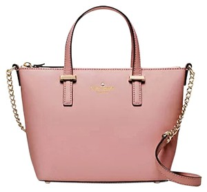Kate Spade Cedar Street Harmony Crossbody Pxru5975 Satchel in Rose Jade/Pale pink