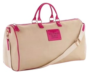 Victoria's Secret The Sexiest On Earth Weekender Bag Beige/Pink Travel Bag