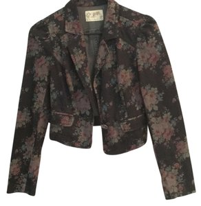 Free People Black jean Blazer