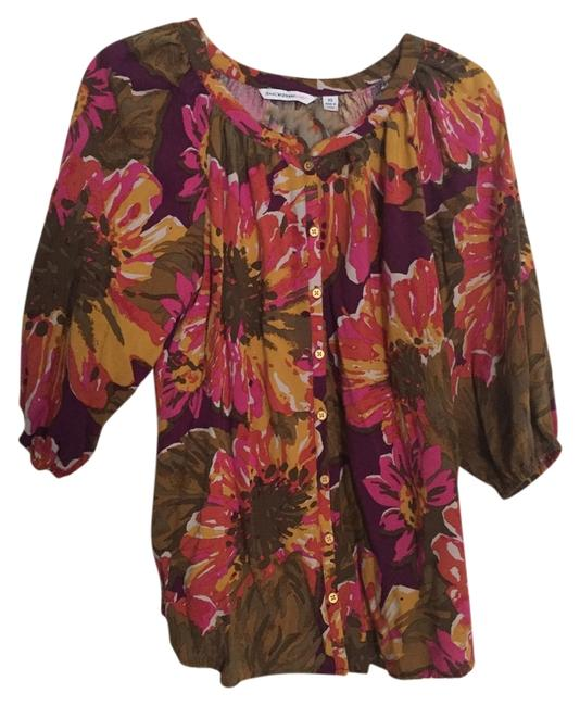 Preload https://item4.tradesy.com/images/isaac-mizrahi-purple-gold-olive-pink-floral-blouse-size-2-xs-13172773-0-1.jpg?width=400&height=650