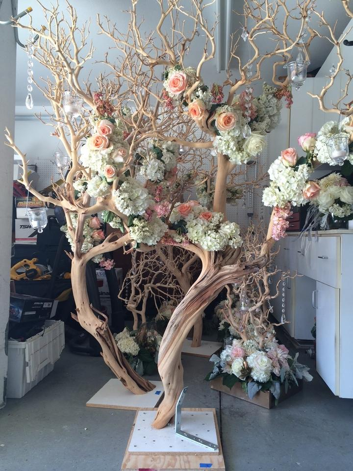 Manzanita Tree And Grape Wood Centerpieces And Decor