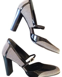 Gucci Mary Jane Heels Grey and Black Pumps