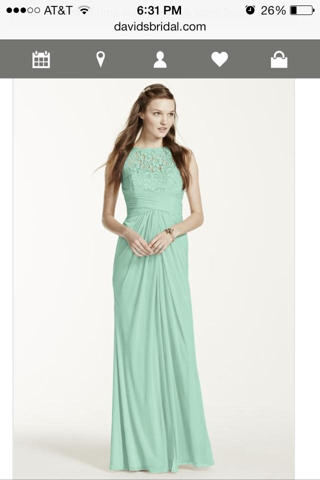 012c650028a David s Bridal Mint Lace Sleeveless Corded - Style F15749 Vintage  Bridesmaid Mob Dress