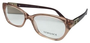 Versace New VERSACE Rx-able Eyeglasses VE 3170-B 772 Brown Transparent Frames w/Crystals