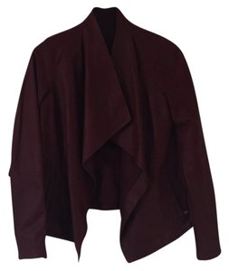 Vince Maroon Leather Jacket