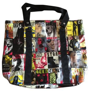 Miss Sixty Hard To Find Vintage Big Big Tote in Multi Colored