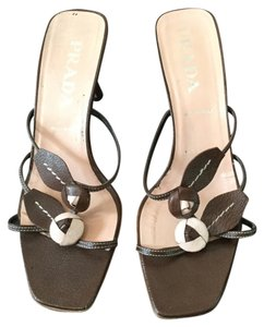 Prada Brown and nude Mules