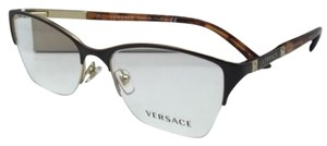 Versace New VERSACE Eyeglasses VE 1218 1344 53-17 Brown/Tortoise/Gold Frames