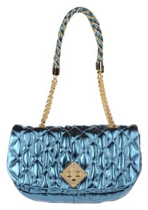 Moschino Quilted Leather Chain Strap Metallic Couture Shoulder Bag