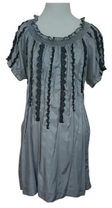 Ya Los Angeles short dress SILVER Silk Short on Tradesy