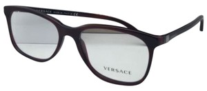 Versace New VERSACE Rx-able Eyeglasses VE 3187 5045 55-17 140 Red Striped Black Frames