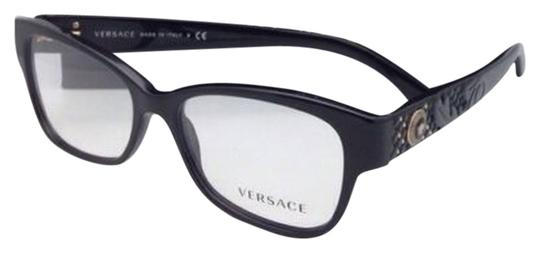 Versace New VERSACE Eyeglasses VE 3196 GB1 54-16 135 Black Frames Image 0