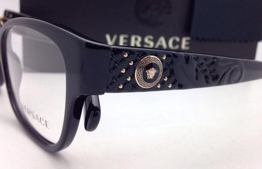 Versace New VERSACE Eyeglasses VE 3196 GB1 54-16 135 Black Frames Image 1