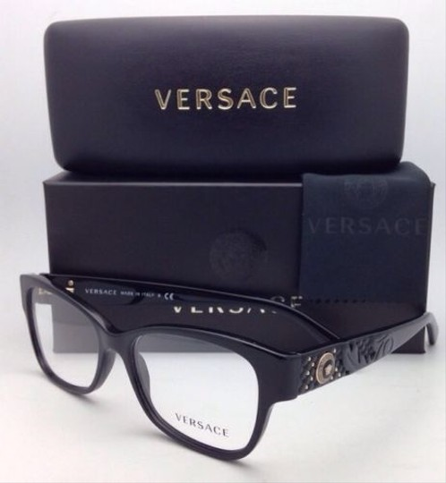 Versace New VERSACE Eyeglasses VE 3196 GB1 54-16 135 Black Frames Image 2