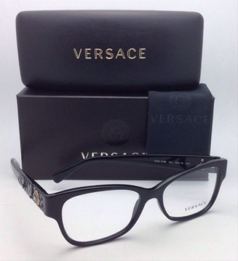 Versace New VERSACE Eyeglasses VE 3196 GB1 54-16 135 Black Frames Image 6