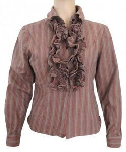 Sharon Endick Button Down Shirt Brown