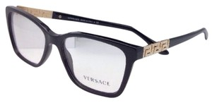 Versace New VERSACE Eyeglasses VE 3192-B GB1 54-16 Black Frame w/ Crystals