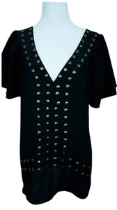 Pure Sugar Studded Sexy Spring Top Black