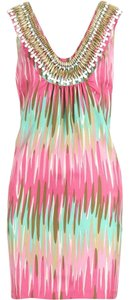 MILLY short dress Water Stripe Beaded Embellished Shift on Tradesy