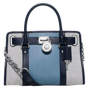 Michael Kors Satchel in Navy/Sky